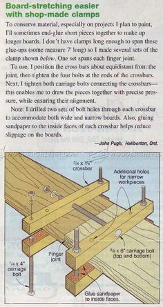 Board-Stretching Jig - Panel Glue Up Tips, Jigs and Techniques  | WoodArchivist.com: