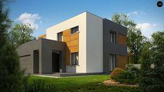 Проект Zx73 Двухэтажный коттедж современного лаконичного дизайна -