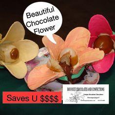 Chocolate flowers need no water