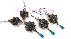 Tutorial ~ Minerva Necklace & Earrings in 2 Sizes with MiniDuo Beads
