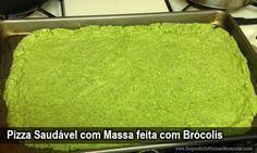 Pizza Saudável com Massa feita com Brócolis → http://www.segredodefinicaomuscular.com/pizza-saudavel-com-massa-feita-com-brocolis/ #Dieta