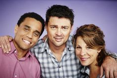 The stars of Almost Human. Great actors, all of them. This is going to be an amazing show. <3