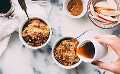 This list of healthy oatmeal recipes brings you all the oatmeal flavor combos you could ever imagine. These meals are great for morning, afternoon or evening. Oatmeal Flavors, Healthy Oatmeal Recipes, Oats Recipes, Healthy Snacks, Apple Recipes, Stay Healthy, Granola, Muesli, The Oatmeal