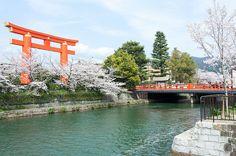 tokyoghosts:  平安神宮 大鳥居と桜 by GenJapan1986 on Flickr.