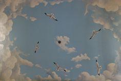 Cloud ceiling mural                                                                                                                                                                                 More