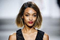 The best of London Fashion Week SS15 - Udo's Choice Beauty Blog.  Shaggy bobs Nothing says 'London' like undone cool and the shaggy bob personifies this to perfection. This look was nailed by Jourdan Dunn at Topshop Unique, with a blunt cut, tousled waves and low-lights screaming out London cool.