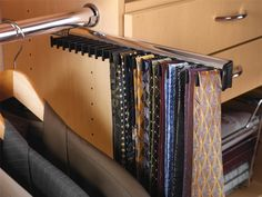 This Neck Tie Rack By Hafele Is Available In 17 And 20 Hook Lengths The Polished Chrome Matt Aluminum Dark Oil Rubbed Bronze