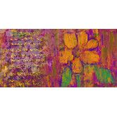 Found it at Wayfair - Floral Shades 1 Painting Print on Wrapped Canvas