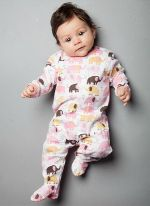 Magnificent Baby Footie  Out with the days of 10 snap button footie outfits, and introducing MAGNETIC buttons! Faster and simpler way to dress your fussy baby Soft material and great for your active baby Lead free and machine washable