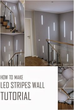 HOMEmade MAKEOVERS: How To Make Led Stripes Wall - Tutorial