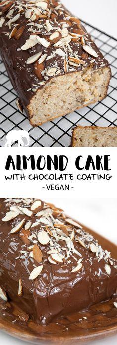 Almond Cake with Chocolate Coating via @elephantasticv