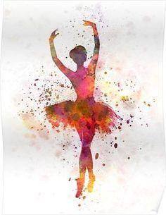 Ballerina Painting - Woman Ballerina Ballet Dancer Dancing by Pablo Romero