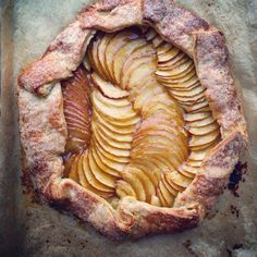 Rather than shovel snow I opted to make this apple galette instead, glazed with homemade apricot jam.