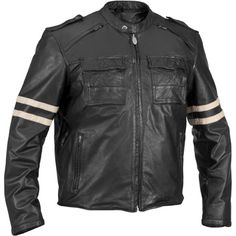 River Road Baron Retro Men's Vintage Leather Jackets...I don't love it, but I do like the stripes.