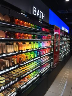 Rainbow colours Supermarket Design, Retail Store Design, Juice Bar Design, Store Signage, Pharmacy Design, Retail Shelving, Luxury Store, Cosmetic Shop, Store Interiors