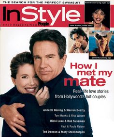 InStyle Magazine Covers: 1995 - May, Annette Bening and Warren Beatty from #InStyle