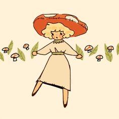 Cartoon Kunst, Cartoon Art, Pretty Art, Cute Art, Arte Indie, Mushroom Art, Mushroom Drawing, Arte Sketchbook, Dibujos Cute