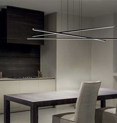 Shop Now STRAIGHT 8207 LED Pendant Lighting Linea Light and we'll deliver you this Italian lighting FREE of charge – Modelight Quality Designer Lighting Home Lighting Design, Linear Lighting, Interior Lighting, Outdoor Lighting, Led Pendant Lights, Pendant Lamp, Pendant Lighting, Chandelier, Strip Led