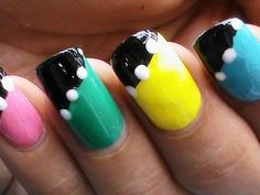 Nail art without tools - Easy Nail art Designs nail art without using to...