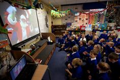 The year 1 students of Cronton Church of England Primary School absolutely loved talking to Santa via Skype in the classroom. Merry Christmas!