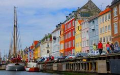 Nyhavn in Copenhagen, Denmark | 17 Impossibly Colorful Cities You'll Want To Visit Immediately