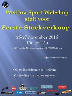 Eerste stockverkoop wetthra Sport Webshop -- Wetteren -- 26/11-27/11