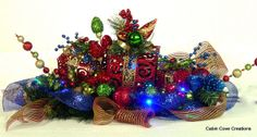 Christmas Holiday w lights red, lime, blue, gold