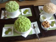 green tea bingsu (shaved ice)