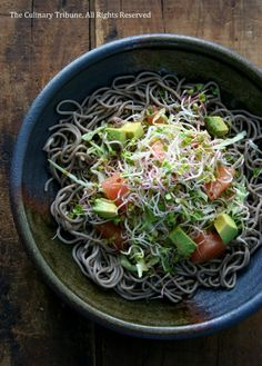Soba Salad with Cabbage and Daikon Radish Sprouts