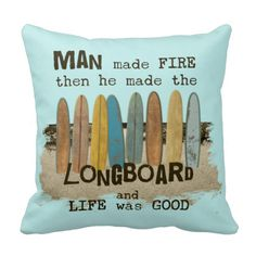 Old Surfer Humor Throw Pillow