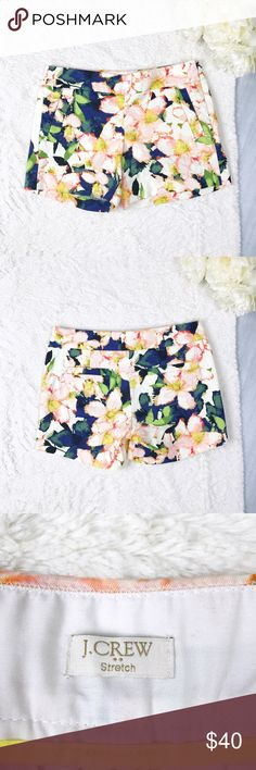J. Crew Floral Shorts J. Crew Floral Shorts Size 2 Excellent Used Condition! Zips on the side!!   Feel free to ask for measurements!  MAKE AN OFFER!l J. Crew Shorts