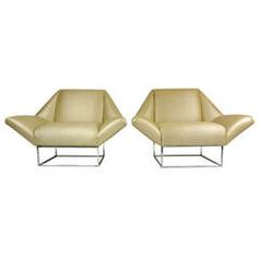 Rare Pair of Milo Baughman Chairs