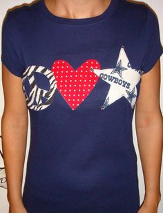 Peace+Love+Dallas+Cowboys+Shirt+by+babychiclilboutique+on+Etsy