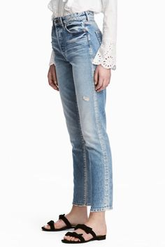 Not into stretch denim? These 100% cotton jeans have a flattering vintage fit and light distressing for a lived-in look. Cropped straight legs are also easy to cuff if you find them too long.