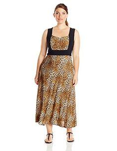 Star Vixen Women's Plus-Size Sleeveless Colorblock Frame Maxi, Leopard/Black, 1X Star Vixen http://smile.amazon.com/dp/B00V5Y9O02/ref=cm_sw_r_pi_dp_s5R1wb0SQP8NM