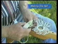 Here is a retired Chesapeake Bay Waterman showing his expert technique to making a net for crabbing on the bay.Net Making for Beginners, Section 3 How To Make Traps, Crab Net, Net Making, Doomsday Survival, Net Bag, Mesh Netting, Filets, Macrame Knots, Saltwater Fishing