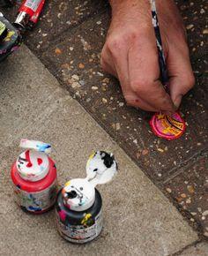 Chewing gum art by Ben Wilson