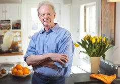 1/05/15 - Sudbury, MA - This is chef and author Gordon Hammersley, cq, in his home kitchen in Sudbury, MA on Monday, January 5, 2015. Images to accompany Gordon Hammersley step-by-step recipe for how to make mac and blue cheese squares. Item: 14hamersleypix. Dina Rudick/Globe Staff.