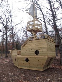 outdoor pirate ship playset plans