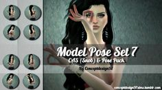 Model Pose Set 7 CAS & Pose Pack version at ConceptDesign97 via Sims 4 Updates