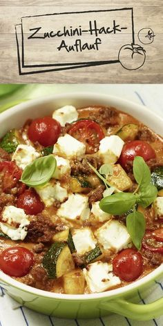 Sommerzeit ist Zucchini-Zeit! Zum Glück lässt sich das Gemüse unglaublich vielseitig einsetzen - probiere doch mal unseren Zucchini-Hack-Auflauf aus und lass dich vom leckeren Geschmack überzeugen. Gelingt garantiert!
