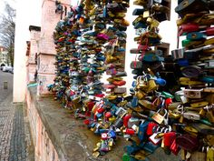 """""""Lover's Lock Bridge"""" in Prague, Czech Republic  Dean and I will be doing this next year!!!"""