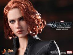 Black Widow Action Figure Close-Up