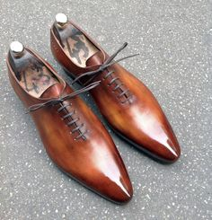 Caulaincourt shoes - One cut 1773 - wood brown