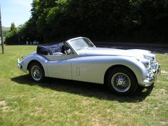 Jaguar XK140 DHC with the roof down