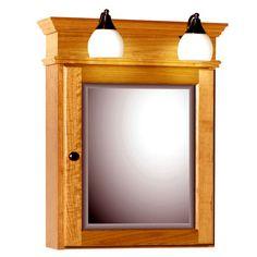 Medicine Cabinets - 24-Inch Rounded Profile Single Door Surface-Mount Medicine Cabinet with Lights By Strasser Woodenworks | KitchenSource.com