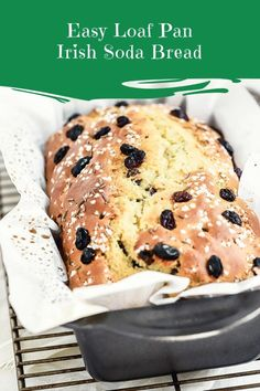 Easy Irish Soda Bread Two Ways – Sprinkles & Sea Salt Easy Loaf Pan Irish Soda Bread Easy Irish Soda Bread made with buttermilk, baked in a loaf pan Bread Recipes, Baking Recipes, Cake Recipes, Dessert Recipes, Celiac Recipes, Irish Bread, Irish Soda Bread Recipe, Pan Dulce, Quiches