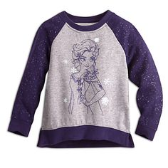 Elsa Raglan Sleeve Sweatshirt for Kids | Disney Store