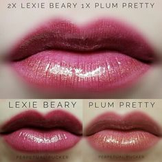 LipSense distributor #228660 @perpetualpucker Lexie Beary and Plum Pretty