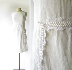 Lilly Pulitzer Dress / 1960s White Dress / by SmallEarthVintage